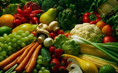 Fruits and Vegetables --- Image by © Fukuhara, Inc./CORBIS