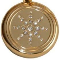 medalion z kryształem