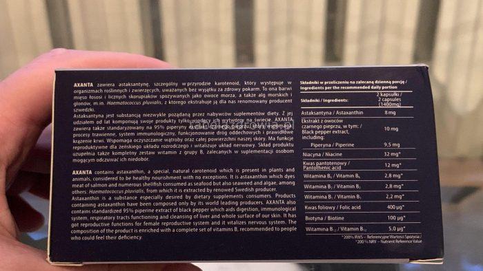 Axanta - składniki