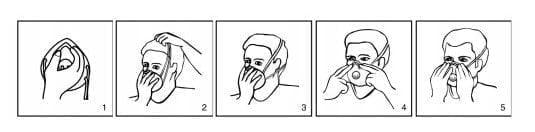 instrukcja zakładania maski antywirusowej na koronawirusa
