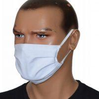 biała maska antysmogowa