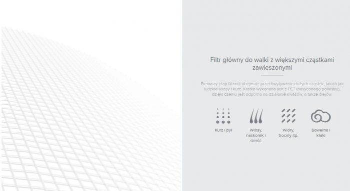 filtr główny do walki z większymi cząstkami zawieszonymi