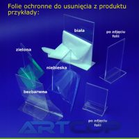 Folie ochronne do usunięcia z produktu