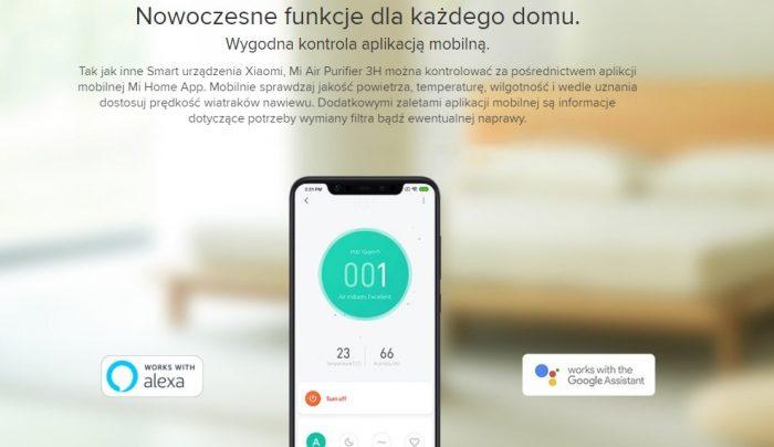 oczyszczacz połączony ze smartfonem