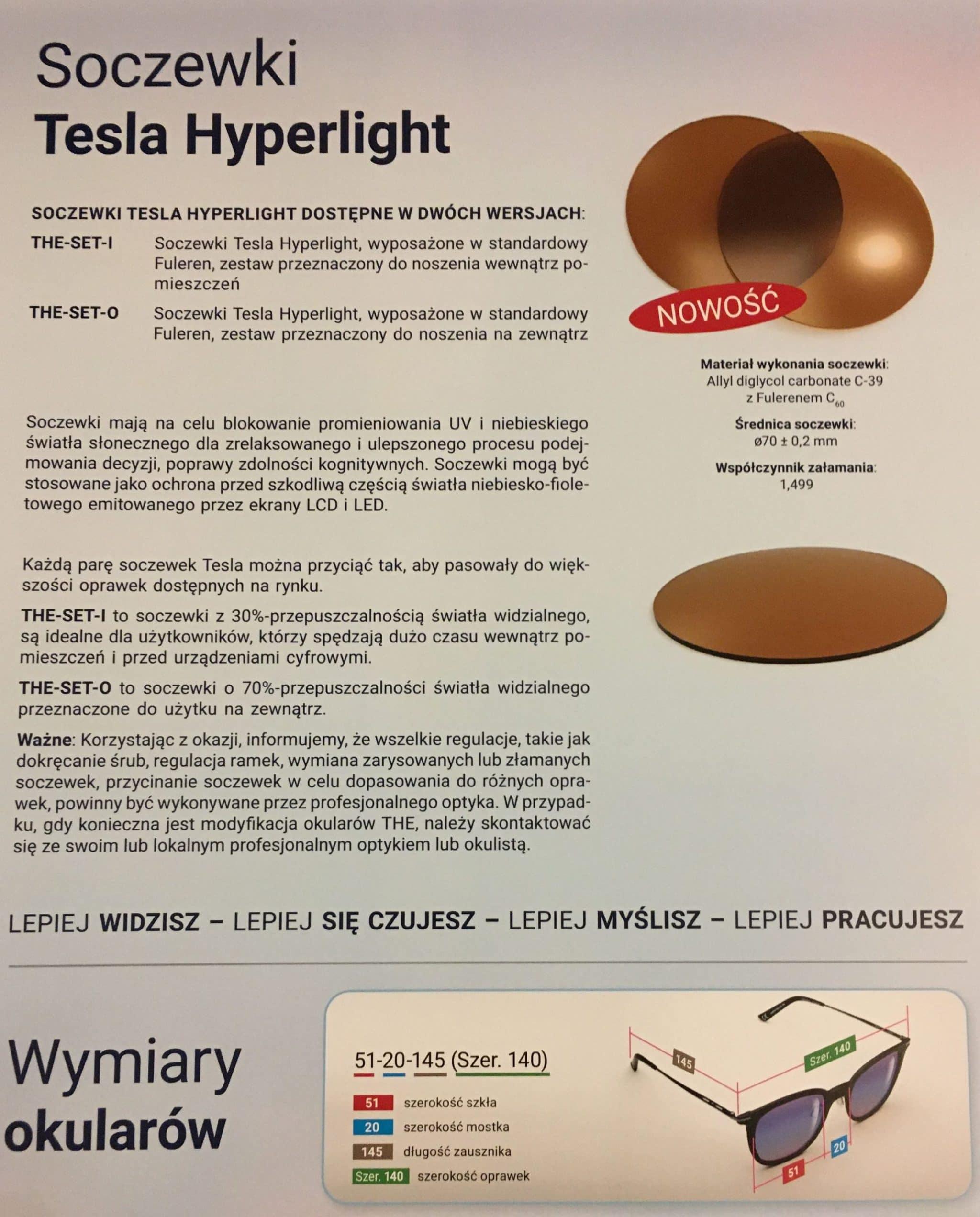 Soczewski Tesla Hyperlight