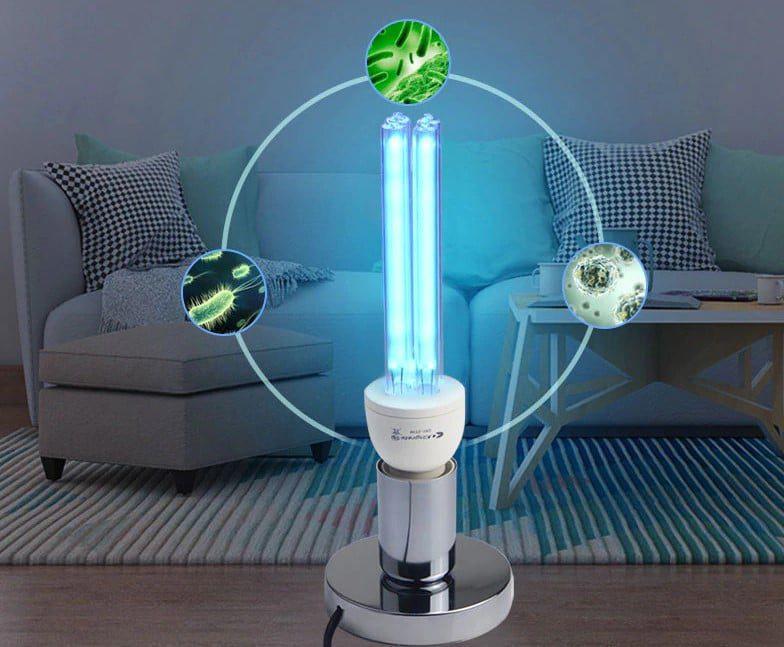 zabijające działanie lamp UV