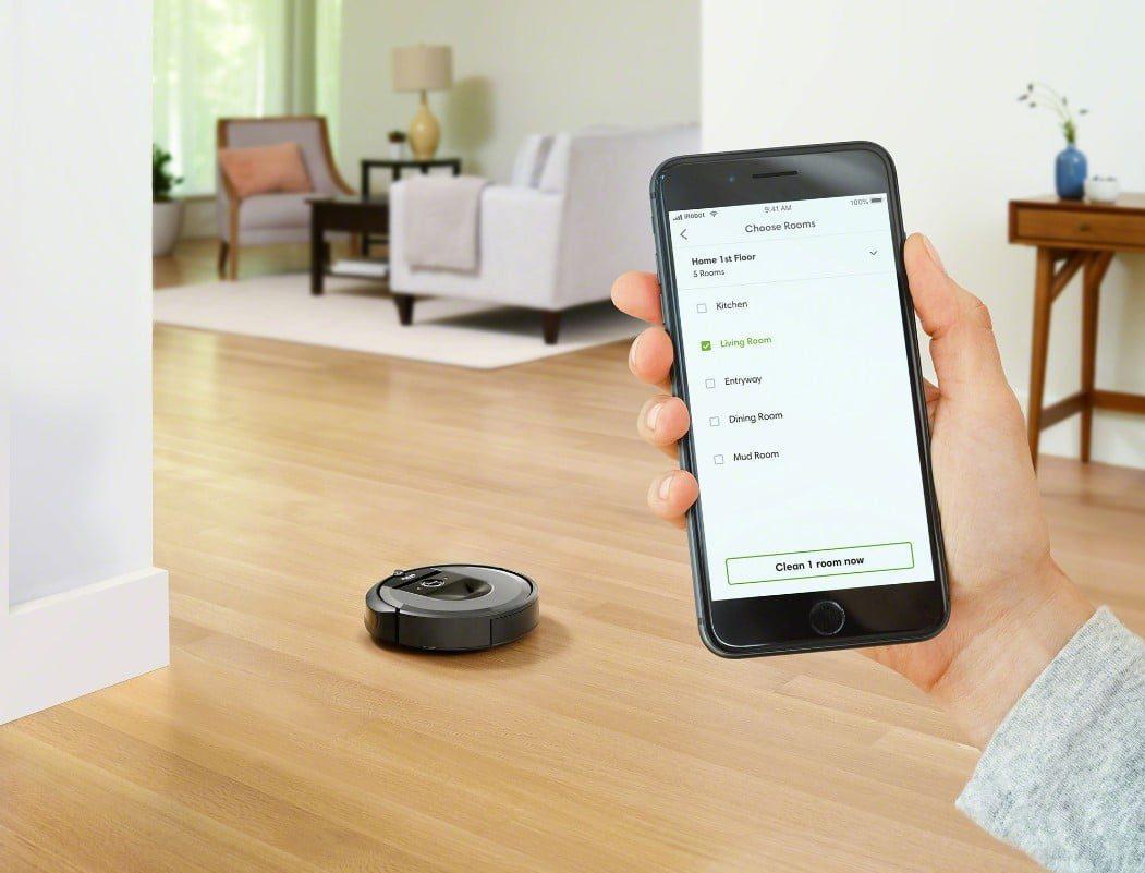 czyszczenie domu za pomocą robota roomba połączenie z aplikacją na smartfona
