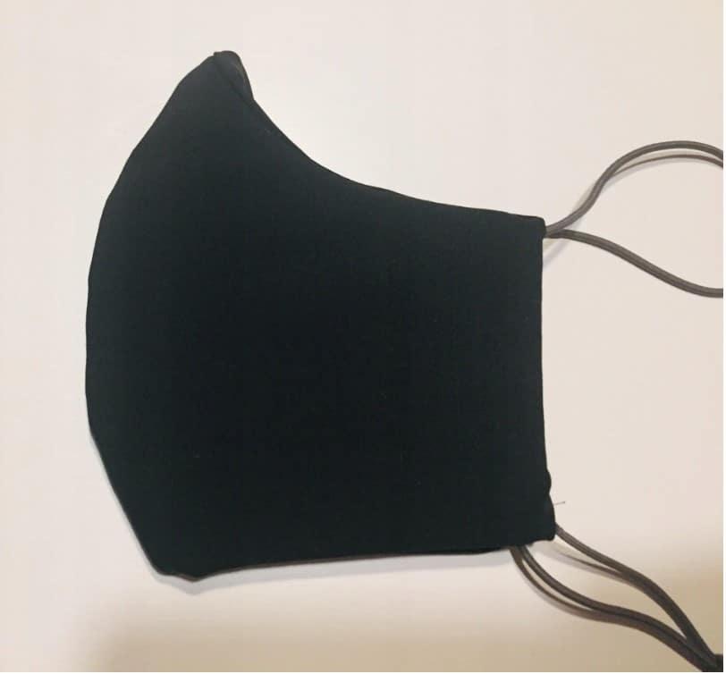 Maseczka bawełniana filtr klasy F7 czarna