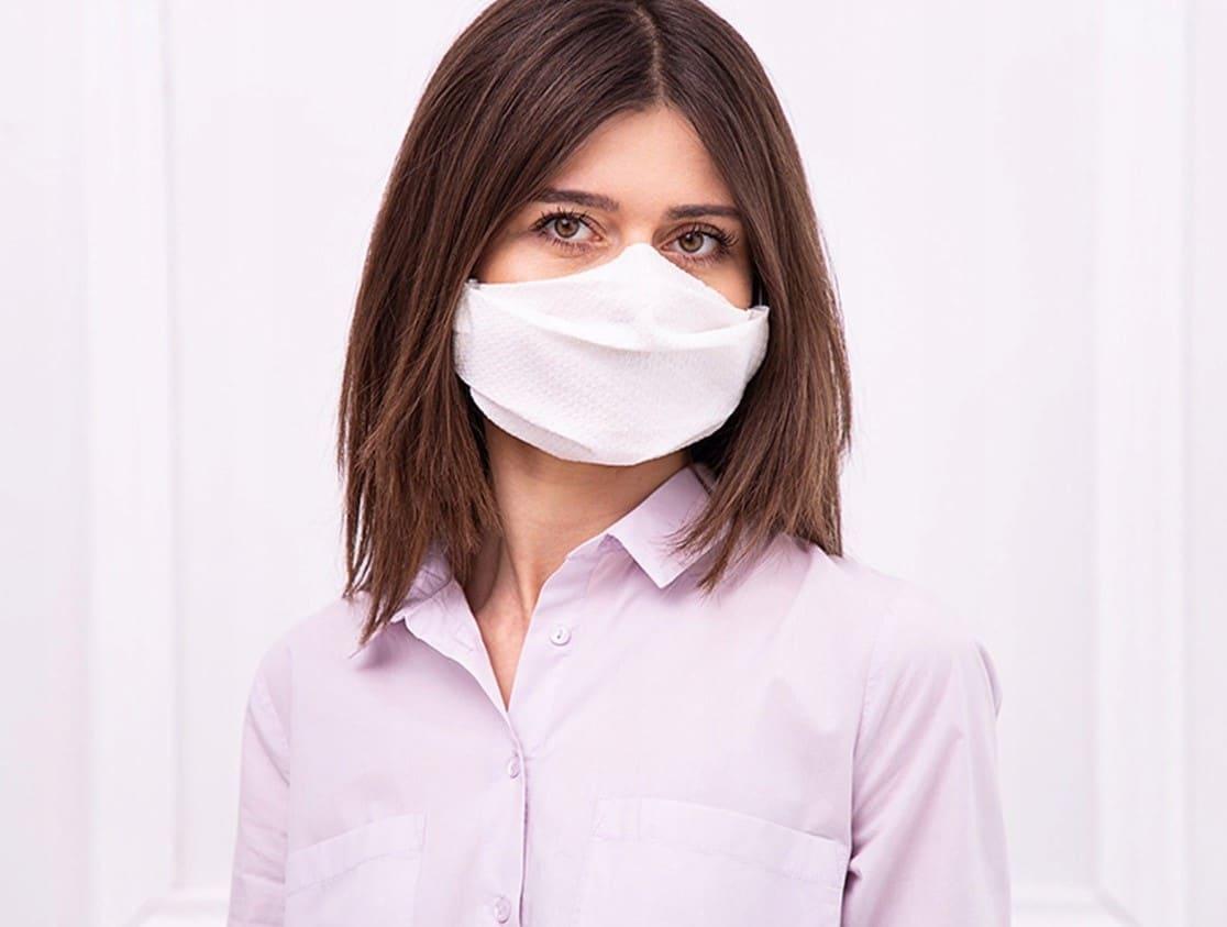 Maseczka maska na twarz papierowa z gumką4