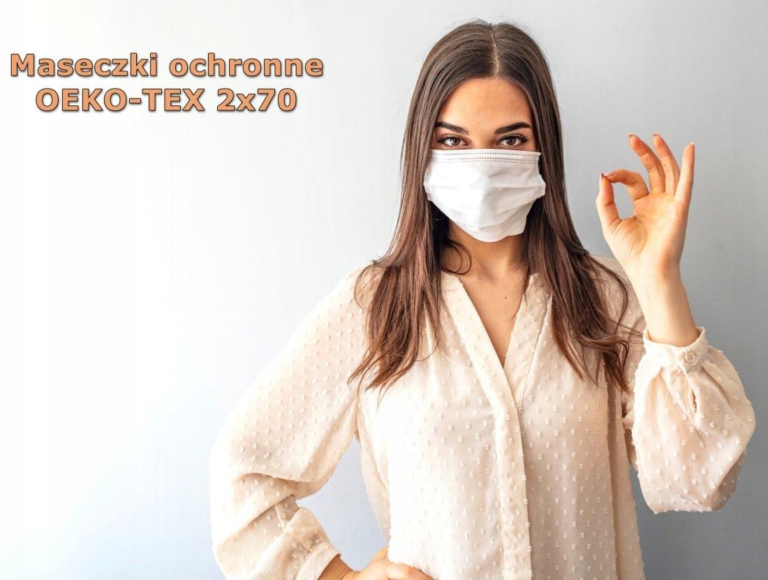 Maseczki ochronne OEKO-TEX 3