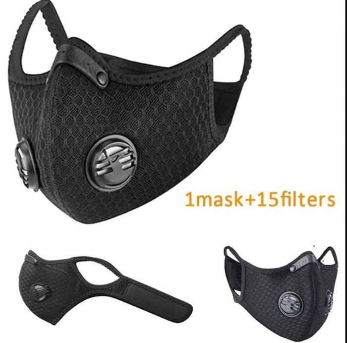 Przeciwzapachowa maska przeciwpyłowa z 15 dodatkowymi filtrami węglowymi N99 2 zawory do maska do spawania maska przeciwzapachowa