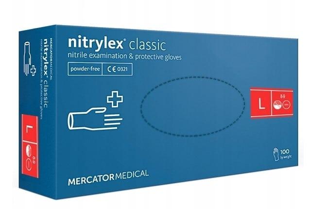 Rękawice nitrylowe rozmiar S,M,L,XL