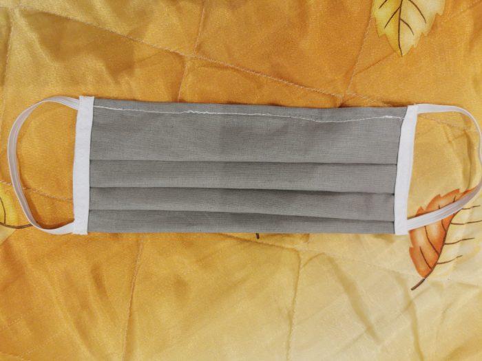 maseczka z bawełny wielorazowa szara