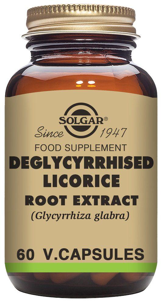 Solgar Wyciąg z korzenia lukrecji - 60 kapsułek warzywnych