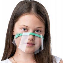 Maseczka dziecięca mini przyłbica na nos i usta zielona