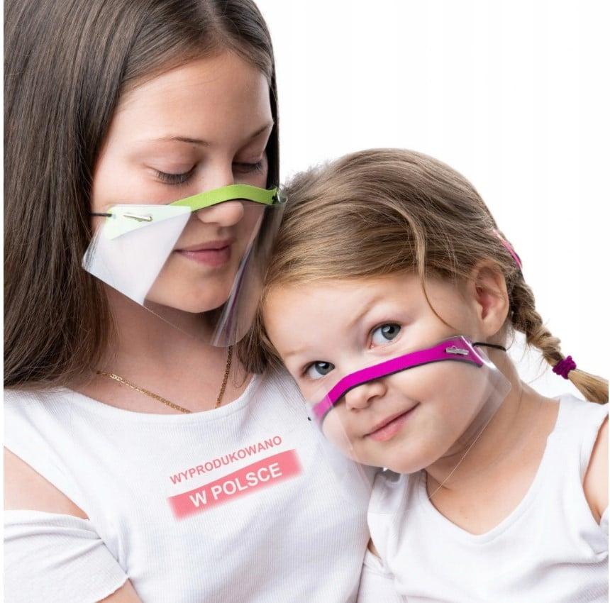 Maseczka dziecięca mini przyłbica na nos i usta