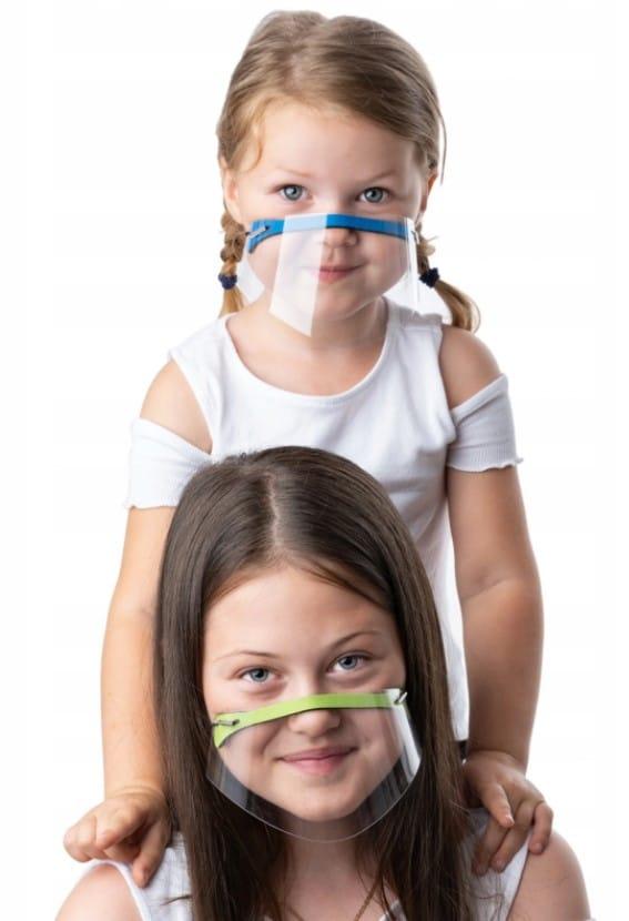 Maseczka dziecięca mini przyłbica na nos i usta dzieci