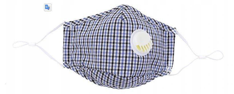 Niebieska maska z filtrem hepa